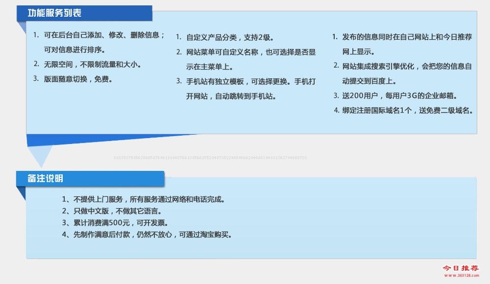 兰溪自助建站系统功能列表