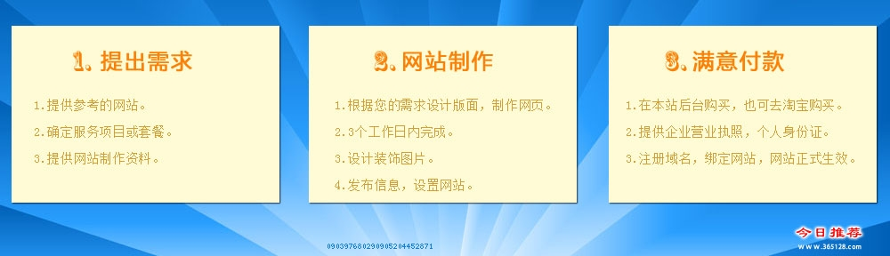 蚌埠网站制作服务流程