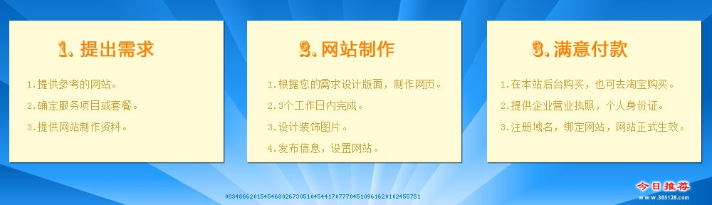 三亚家教网站制作服务流程