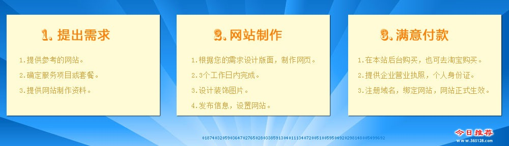 胶南教育网站制作服务流程