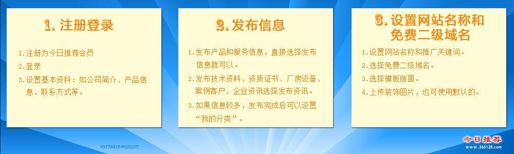 胶南免费模板建站服务流程